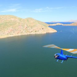 Flying towards the heads at Lake Argyle