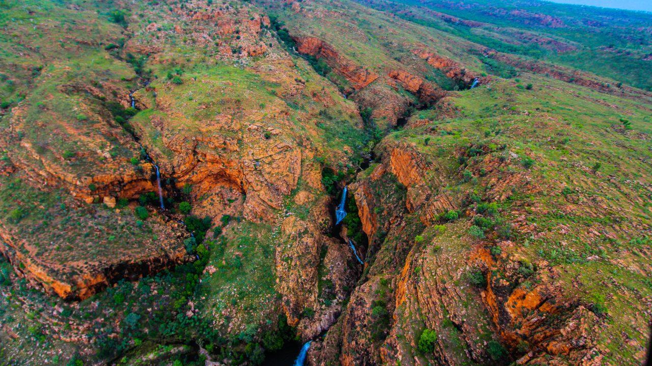Wet season springs and waterfalls