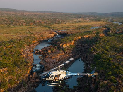 From $499 – 48 minutes – Mitchell Falls Coastal Helicopter Flight