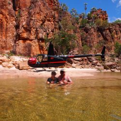 Cooling off in between fishing spots