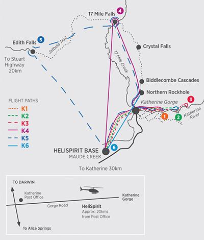 Helispirit Katherine Gorge Flight Paths