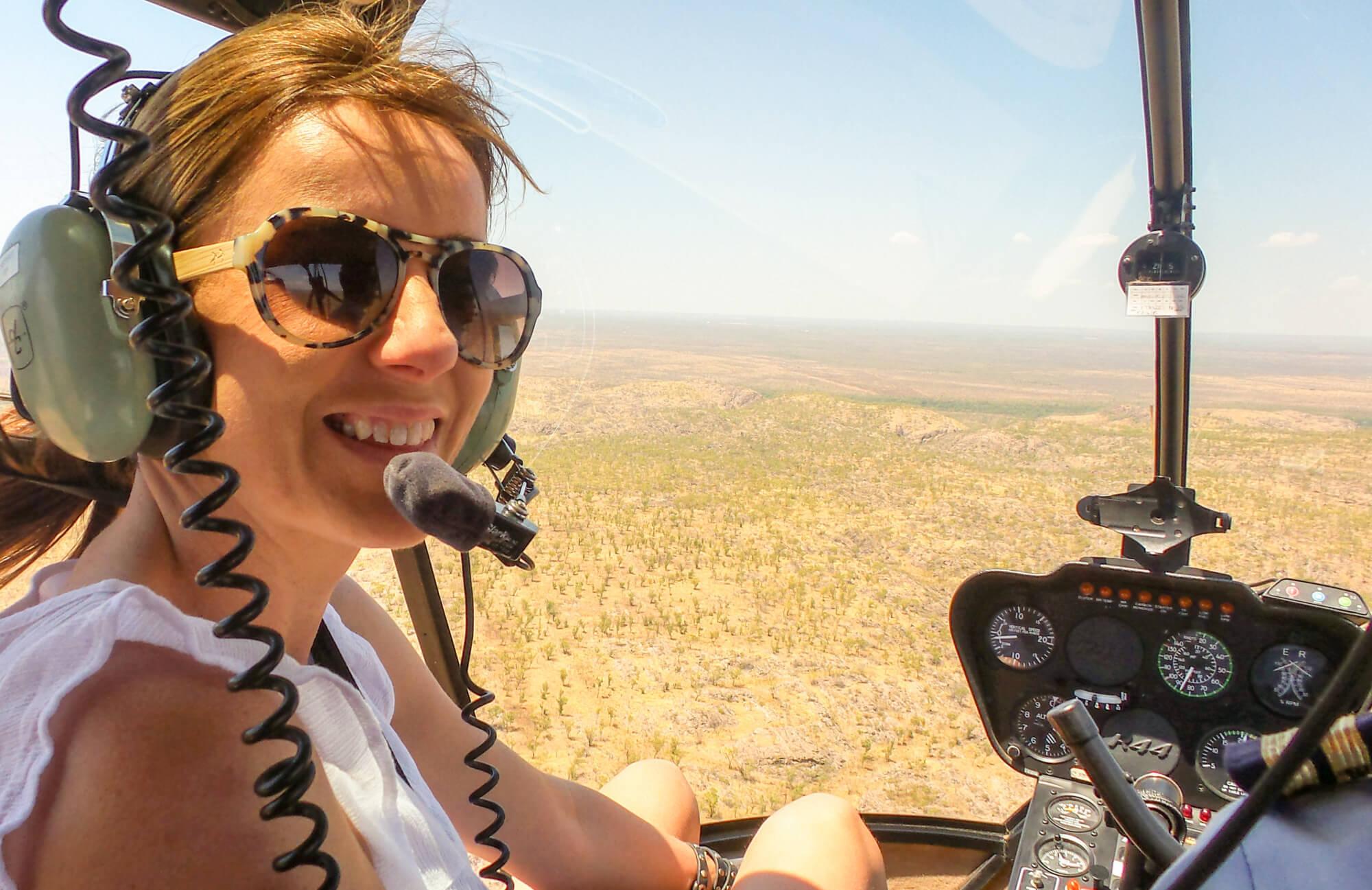 Steve's happy passenger, Lisa Messenger