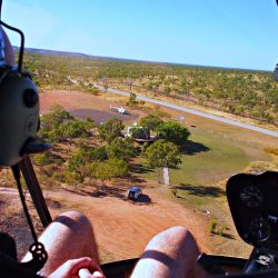 Coming in to land at Maud Creek