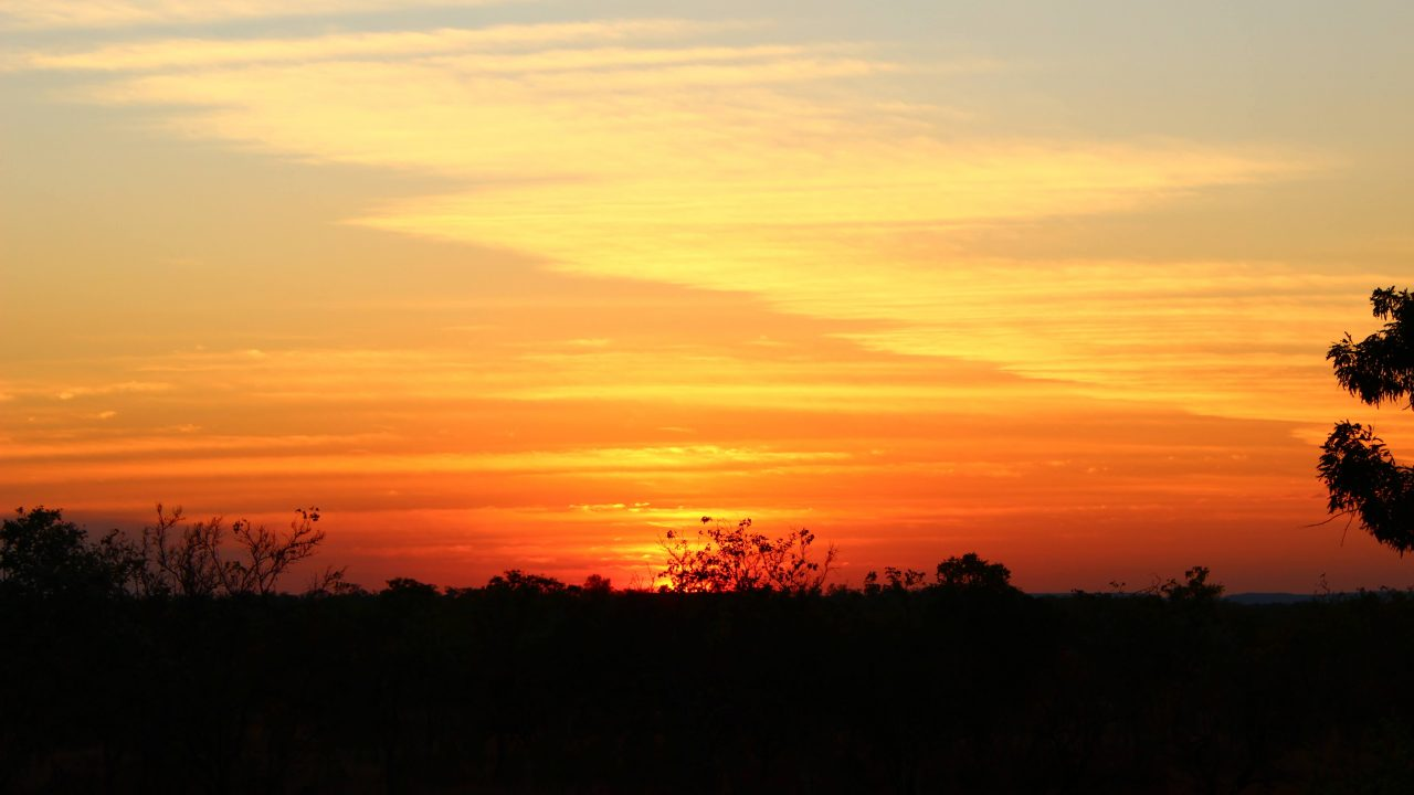 Sunset from the HeliSpirit Katherine Gorge office