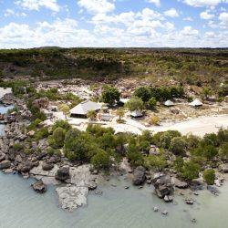 Kimberley Coastal Camp aerial view