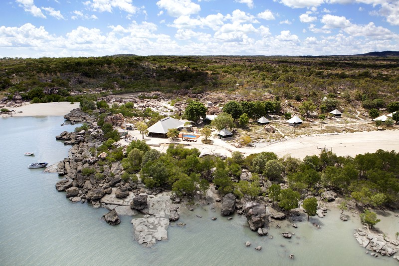 Kimberley Coastal Camp aerial view