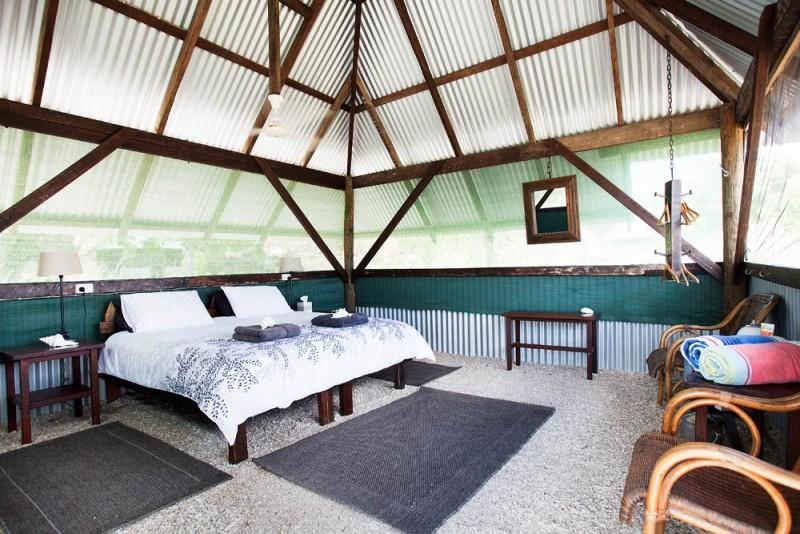 Kimberley Coastal Camp villa bedroom
