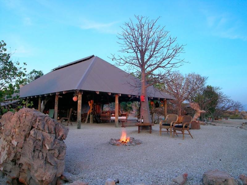 Kimberley Coastal Camp fireplace