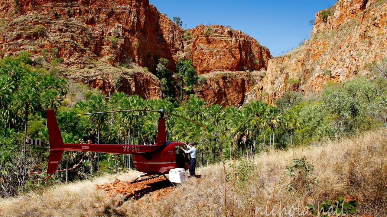 Mirri Mirri Falls red heli