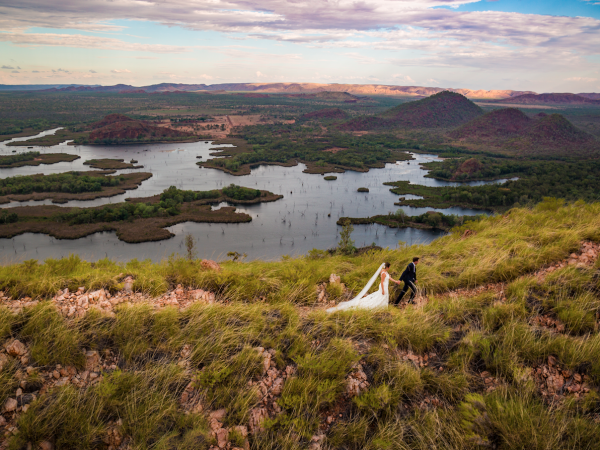 On top of the world wedding photos